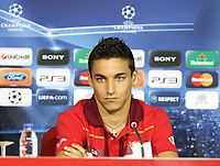 20100817: BRAGA, PORTUGAL - Sevilla FC training session before UEFA Champions League 2010/2011 Play-off match against SC Braga. In picture: Jesus Navas at the pre-match press conference. PHOTO: CITYFILES