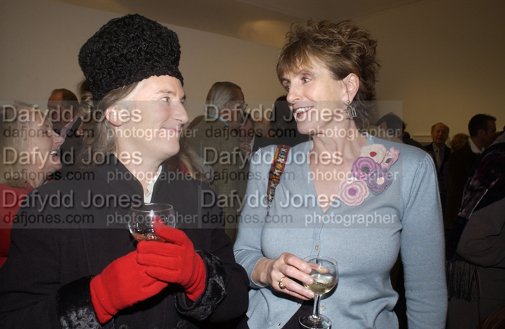 Lady Lucinda Lambton. Andrew Barrow book party, Redfern Gallery, London. 20 November 2002. © Copyright Photograph by Dafydd Jones 66 Stockwell Park Rd. London SW9 0DA Tel 020 7733 0108 www.dafjones.com