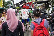A busy street in Indonesia