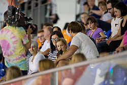 OJ Borg with spectators  at 2015 IPC Swimming World Championships -