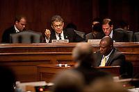 04 Oct 2011, Washington, DC, USA --- Senator (D-MN) Al Franken during a Senate Judiciary Committee hearing --- Image by © Owen Franken/Corbis