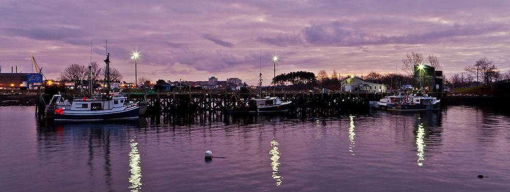 The commercial fishing pier in Portsmouth, New Hampshire.