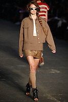 Katie Fogarty walks the runway wearing Alexander Wang Spring 2010 collection during Mercedes-Benz Fashion Week in New York, NY on September 11, 2009