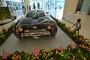 Siam Paragon shopping center. Spyker luxury sportscars on display at the mall.