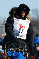 3/4/2007:  Willow, Alaska -  Rookie Gerry Willomitzer of Whitehorse, Yukon Territory CANADA starts his run to Nome in the 35th Iditarod Sled Dog Race