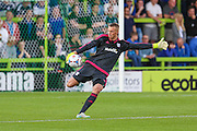 Cardiff City goalkeeper Simon Moore during the Pre-Season Friendly match between Forest Green Rovers and Cardiff City at the New Lawn, Forest Green, United Kingdom on 15 July 2015. Photo by Shane Healey.