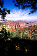 Eastern view of the Grand Canyon from Vista Encantada, North Rim, Grand Canyon National Park, Arizona.