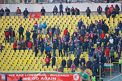 SOFIA, BULGARIA - Wednesday, November 26, 2014: Liverpool's supporters during the UEFA Youth League Group B match against PFC Ludogorets Razgrad at the Georgi Asparuhov Stadium. (Pic by David Rawcliffe/Propaganda)