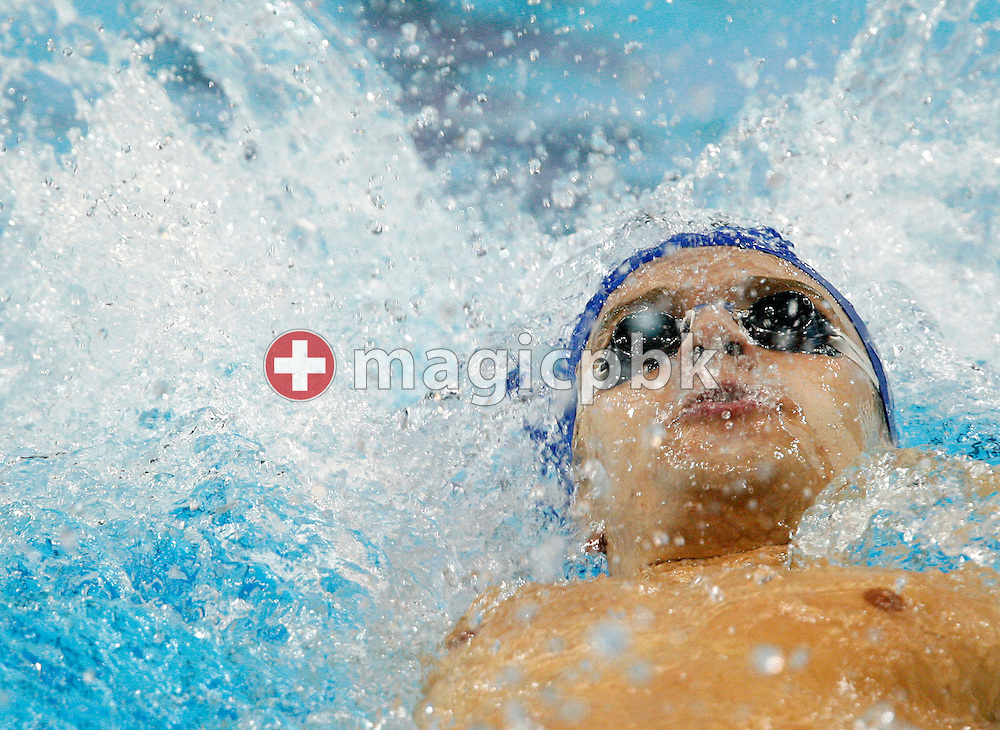 Winner Stanislav DONETS of Russia competes in the men's 200m Backstroke Final at the 13th European Short Course Swimming Championships in Istanbul, Turkey, Thursday, Dec. 10, 2009. (Photo by Patrick B. Kraemer / MAGICPBK)