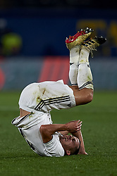 January 4, 2019 - Villarreal, Castellon, Spain - Lucas Vazquez of Real Madrid lies injured on the pitch during the week 17 of La Liga match between Villarreal CF and Real Madrid at Ceramica Stadium in Villarreal, Spain on January 3 2019. (Credit Image: © Jose Breton/NurPhoto via ZUMA Press)