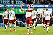 Tony McMahon (29) of Bradford City celebrates the 1-0 win over Portsmouth at full time during the EFL Sky Bet League 1 match between Portsmouth and Bradford City at Fratton Park, Portsmouth, England on 28 October 2017. Photo by Graham Hunt.