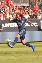 July 28, 2018 - Ann Arbor, MI, U.S. - ANN ARBOR, MI - JULY 28: Manchester United Forward Juan Mata (8) in action during the ICC soccer match between Manchester United FC and Liverpool FC on July 28, 2018 at Michigan Stadium in Ann Arbor, MI. (Photo by Allan Dranberg/Icon Sportswire) (Credit Image: © Allan Dranberg/Icon SMI via ZUMA Press)