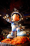 Orlando, Florida, USA, 20090325:   The Disney EPCOT Center in Orlando. The Disney mascot Mickey Mouse dons a space suit inside the Space Pavillion. Photo: Orjan F. Ellingvag/ Dagbladet/ Corbis