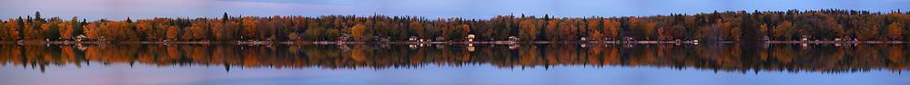 Panorama. Gull Lake reflection, Tuesday, October 3, 2017. (Trevor Hagan)