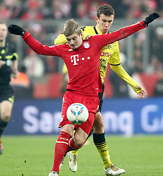 19.11.2011, Allianz Arena, Muenchen, GER, 1.FBL, FC Bayern Muenchen vs Borussia Dortmund, im Bild Ivan Perisis (BVB #14) mit Toni Kroos (Bayern #39) // during the match FC Bayern Muenchen vs  Borussia Dortmund, on 2011/11/19, Allianz Arena, Munich, Germany. EXPA Pictures © 2011, PhotoCredit: EXPA/ nph/ Straubmeier..***** ATTENTION - OUT OF GER, CRO *****
