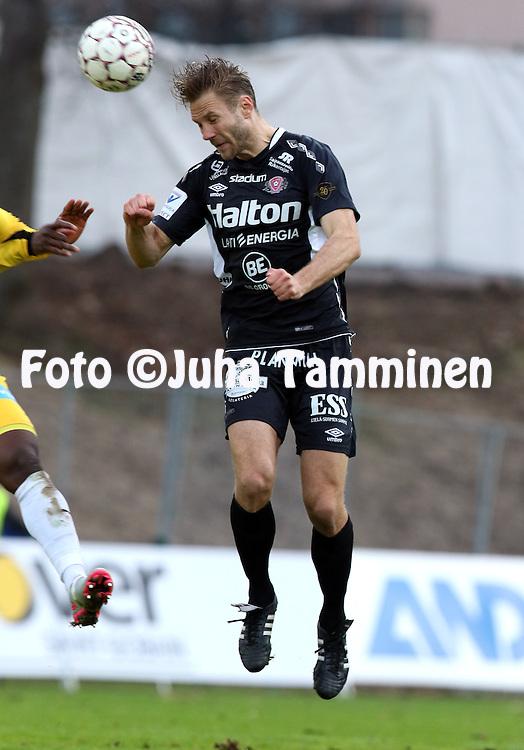 28.4.2016, Kisapuisto, Lahti.<br /> Veikkausliiga 2016.<br /> FC Lahti - Vaasan Palloseura<br /> Pyry K&auml;rkk&auml;inen - FC Lahti