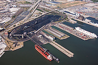 Baltimore aerial photography of the CNX Coal Terminal in Baltimore Patapsco River
