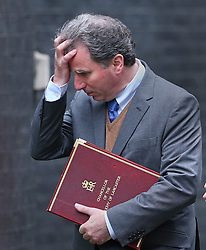 © Licensed to London News Pictures. 01/12/2015. London, UK Chancellor of the Duchy of Lancaster OLIVER LETWIN arrives for a Cabinet meeting ahead of a vote in Parliament on bombing IS targets in Syria. Photo credit: Peter Macdiarmid/LNP