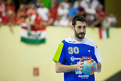 Dragan Gajic #30 of Slovenia during handball match between National teams of Slovenia and Hungary in play off of 2015 Men's World Championship Qualifications on June 15, 2014 in Rdeca dvorana, Velenje, Slovenia. Photo by Urban Urbanc / Sportida