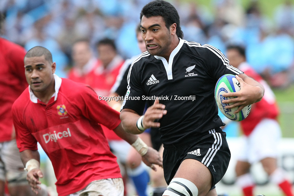 Victor Vito on the charge. Pacific Nations Cup rugby union match between the Junior All Blacks and Tonga played in Suva, Fiji, Thursday 2 July 2009.<br /> Photo: Bruce Southwick / Zoomfiji / PHOTOSPORT