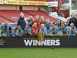 February 23, 2019 - Sheffield, England, United Kingdom - Sheffield, England 23rd February. Manchester City win the league cup  during the  FA Women's Continental League Cup Final  between Arsenal and Manchester City Women at the Bramall Lane Football Ground, Sheffield United FC Sheffield, Saturday 23rd February. (Credit Image: © Action Foto Sport/NurPhoto via ZUMA Press)