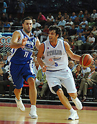 DESCRIZIONE : Roma Amichevole preparazione Eurobasket 2007 Italia Grecia <br /> GIOCATORE : Gianluca Basile <br /> SQUADRA : Nazionale Italia Uomini <br /> EVENTO : Amichevole preparazione Eurobasket 2007 Italia Grecia <br /> GARA : Italia Grecia <br /> DATA : 30/08/2007 <br /> CATEGORIA : Penetrazione <br /> SPORT : Pallacanestro <br /> AUTORE : Agenzia Ciamillo-Castoria/E.Grillotti