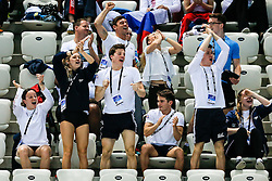 The Great Britain  Team react during the Womens 10m Platform Final - Mandatory byline: Rogan Thomson/JMP - 13/05/2016 - DIVING - London Aquatics Centre - Stratford, London, England - LEN European Aquatics Championships 2016 Day 5.