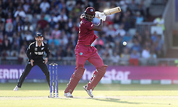 West Indies Carlos Brathwaite during the ICC Cricket World Cup group stage match at Old Trafford, Manchester.