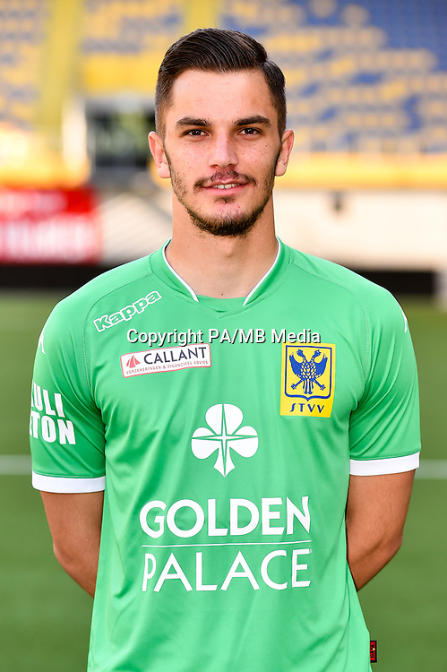 STVV's Emil Velic poses for the photographer during the 2015-2016 season photo shoot of Belgian first league soccer team STVV, Friday 17 July 2015 in Sint-Truiden.