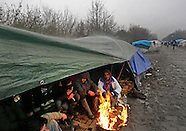 Calais refugee camps, France, Jan 2016
