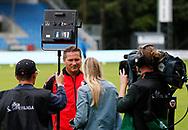 FODBOLD: Cheftræner Thomas Thomasberg (Hobro IK) giver interview før kampen i ALKA Superligaen mellem Hobro IK og FC Helsingør den 16. juli 2017 på DS Arena i Hobro. Foto: Claus Birch
