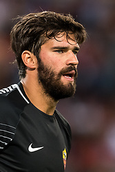 goalkeeper Alisson Becker of AS Roma during the UEFA Champions League group C match match between AS Roma and Atletico Madrid on September 12, 2017 at the Stadio Olimpico in Rome, Italy.