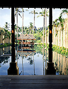 Reflecting pool pavilion.