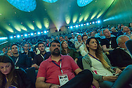 Audience members are pictured during a Nike / Intersport GTM at The Bella Center in Copenhagen, Denmark.