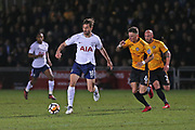 Tottenham Hotspur  Fernando Llorente (18) on the ball  during the The FA Cup 4th round match between Newport County and Tottenham Hotspur at Rodney Parade, Newport, Wales on 27 January 2018. Photo by Gary Learmonth.