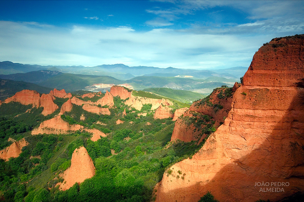 View of Las Médulas, roman gold mines and  historical site