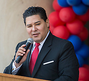 Houston ISD Superintendent Richard Carranza comments during a groundbreaking ceremony at Lamar High School, March 30, 2017.
