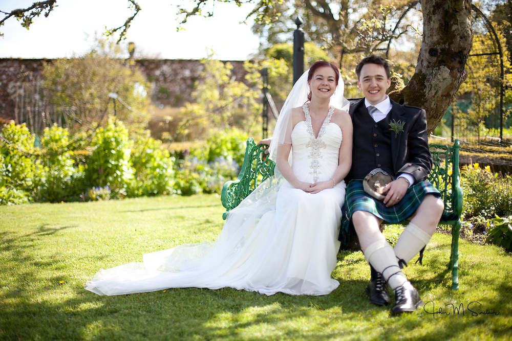 The wedding of Jane and Colin Howarth at Kellie Castle and St Andrews Golf Hotel. May 5th 2012.