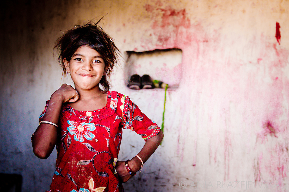India. A young girl who lives in a small village situated in Rajasthani Thar desert.