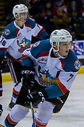 KELOWNA, CANADA - JANUARY 27:  Lucas Johansen #7 of the Kelowna Rockets and Kole Lind #16 of the Kelowna Rockets at the Kelowna Rockets game on January 27, 2017 at Prospera Place in Kelowna, British Columbia, Canada.  (Photo By Cindy Rogers/Nyasa Photography,  *** Local Caption ***