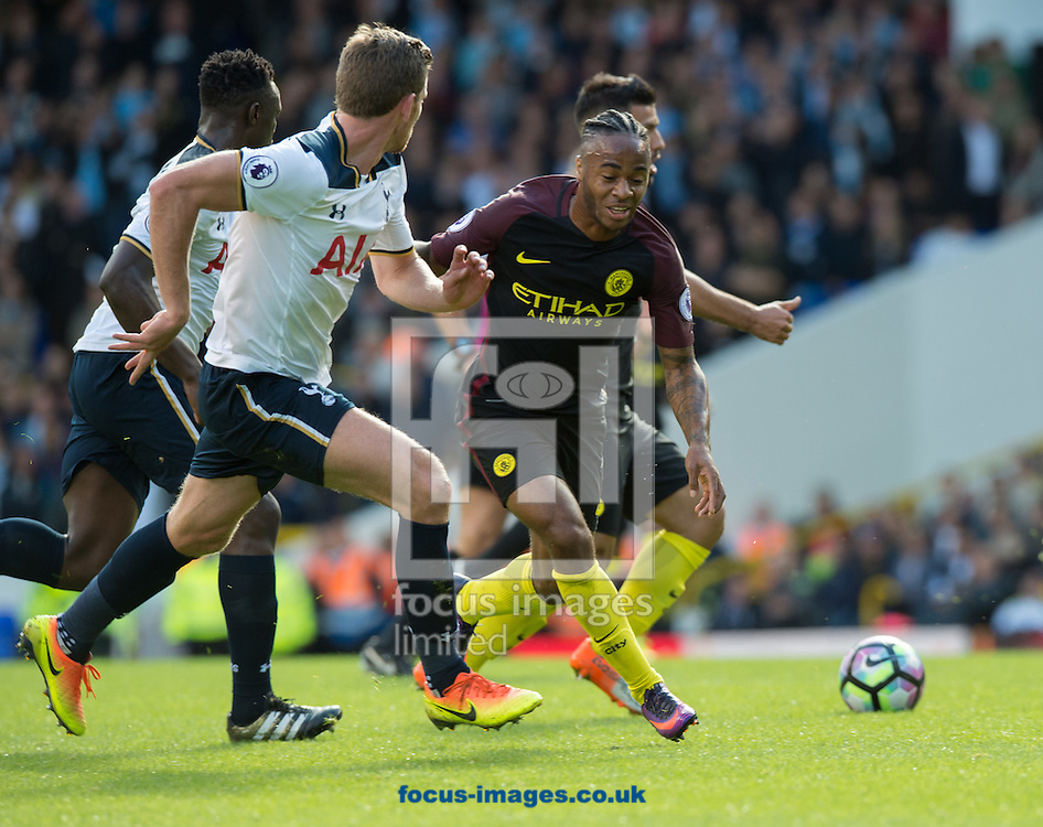 Raheem Sterling of Manchester City during the Premier League match at White Hart Lane, London<br /> Picture by Alan Stanford/Focus Images Ltd +44 7915 056117<br /> 02/10/2016