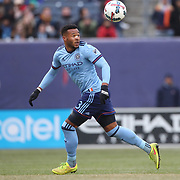 NEW YORK, NEW YORK - March 18:  Ethan White #3 of New York City FC in action during the New York City FC Vs Montreal Impact regular season MLS game at Yankee Stadium on March 18, 2017 in New York City. (Photo by Tim Clayton/Corbis via Getty Images)