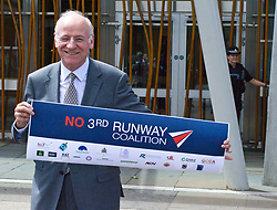 Pictured: Neil Gil Paterson, Regional MSP for the West of Scotland <br /> <br /> The No 3rd Runway Coalition was at the Scottish Parliament today to urge the SNP to change their position on supporting the Heathrow third runway proposal and to send the UK Government a message to 'think again'. Campaigners will be joined by MSPs from Scottish Greens, and SNP to highlight the environmental damage to Scotland and the rest of the UK that building a third runway would mean, as well as the fact that Scottish airports would suffer as a result.  Campaigners also believe that the SNP appear to be too trusting of UK Government promises – particularly in relation to the impact on Climate Change commitments - as revealed by Keith Brown, Cabinet Secretary for Economy, Jobs and Fair Work, in response to a question from Patrick Harvie MSP in the Scottish Parliament last Thursday.<br /> <br /> The Labour party announced their formal opposition to the proposal on Wednesday, on the basis that the UK Government's Airports National Policy Statement failed all four of party's tests on climate change, delivering extra capacity, air pollution and benefits to be felt outside of London. Additionally, the long-awaited UK Government mitigation framework for international aviation emissions won't be published for many months after MPs have been asked to support the Heathrow proposal. A recent report by the New Economics Foundation seriously calls into question the economic case – using the Department for Transport's own measures; and this is before taking into account the economic impact of Brexit <br /> <br /> <br /> <br /> Ger Harley | EEm 21 June 2018