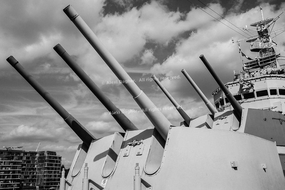 HMS Belfast Gun Turrets - London, England, 2017