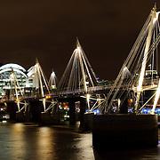 Embankment Bridge over the River Thames near the Millenium Wheel