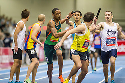 New Balance Indoor Grand Prix track & field, Mens 4x800 meter relay, Torrence to Solomon and Gagnon to Andrews
