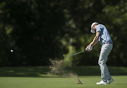 May 25, 2018 - Fort Worth, TX, USA - FORT WORTH, TX - MAY 25, 2018 - Chris Kirk hits his approach on the 11th hole during the second round of the 2018 Fort Worth Invitational PGA at Colonial Country Club in Fort Worth, Texas (Credit Image: © Erich Schlegel via ZUMA Wire)