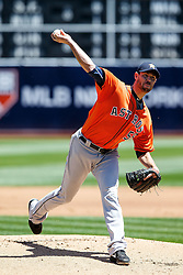 OAKLAND, CA - MAY 01:  Doug Fister #58 of the Houston Astros pitches against the Oakland Athletics during the first inning at the Oakland Coliseum on May 1, 2016 in Oakland, California. (Photo by Jason O. Watson/Getty Images) *** Local Caption *** Doug Fister