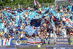 """Foto LaPresse/Filippo Rubin<br /> 20/05/2018 Ferrara (Italia)<br /> Sport Calcio<br /> Spal - Sampdoria - Campionato di calcio Serie A 2017/2018 - Stadio """"Paolo Mazza""""<br /> Nella foto: I TIFOSI DELLA SAMPDORIA<br /> <br /> Photo LaPresse/Filippo Rubin<br /> May 20, 2018 Ferrara (Italy)<br /> Sport Soccer<br /> Spal vs Sampdoria - Italian Football Championship League A 2017/2018 - """"Paolo Mazza"""" Stadium <br /> In the pic: SAMPDORIA SUPPORTERS"""