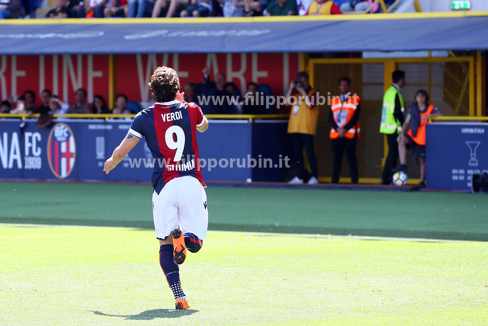 "Foto Filippo Rubin<br /> 13/05/2018 Ferrara (Italia)<br /> Sport Calcio<br /> Bologna - Chievo Verona - Campionato di calcio Serie A 2017/2018 - Stadio ""Renato Dall'Ara""<br /> Nella foto: <br /> <br /> Photo by Filippo Rubin<br /> May 13, 2018 Ferrara (Italy)<br /> Sport Soccer<br /> Bologna vs Chievo Verona - Italian Football Championship League A 2017/2018 - ""Renato Dall'Ara"" Stadium <br /> In the pic:"